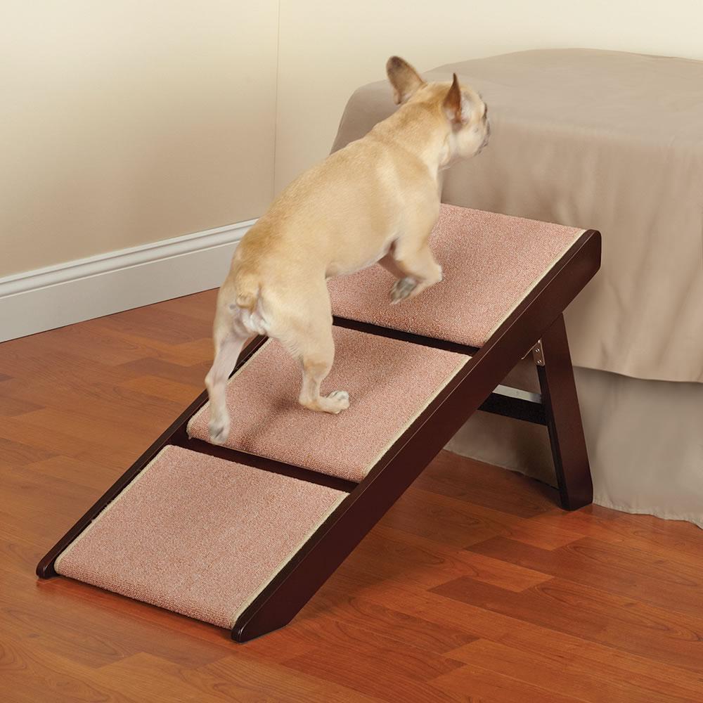 Three Step Pet Ramp And Staircase W/ Non-Slip Carpet