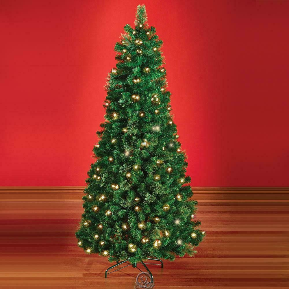 The decoratable pull up artificial christmas tree 6 feet tall lifelike