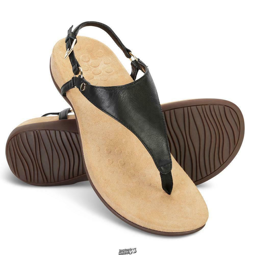 The Plantar Fasciitis Slingback Sandals BLACK SIZE 7 VIONIC